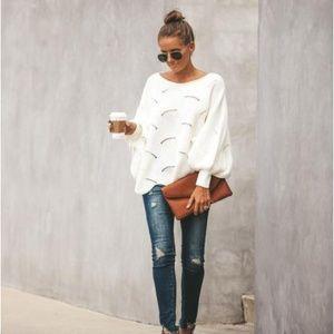 Vici White Dolman Sleeve Sweater Sweater